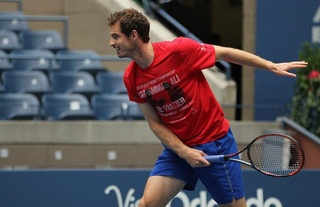 Andy Murray at practice, 2016 US Open