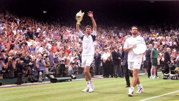 Goran Ivanisevic and Pat Rafter, Wimbledon 2001