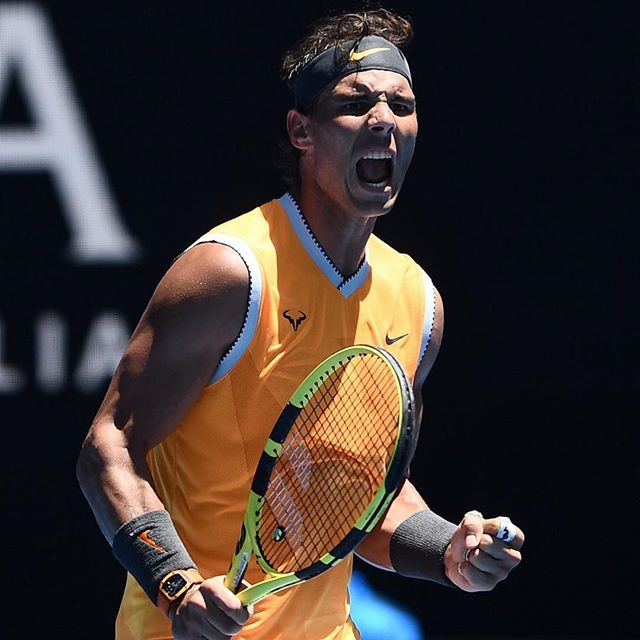 0d31890d82 Rafael Nadal Australian Open outfit. Some pics of Rafa s kit from his first  round victory over James Duckworth on Monday. Nadal s Nike collection is ...
