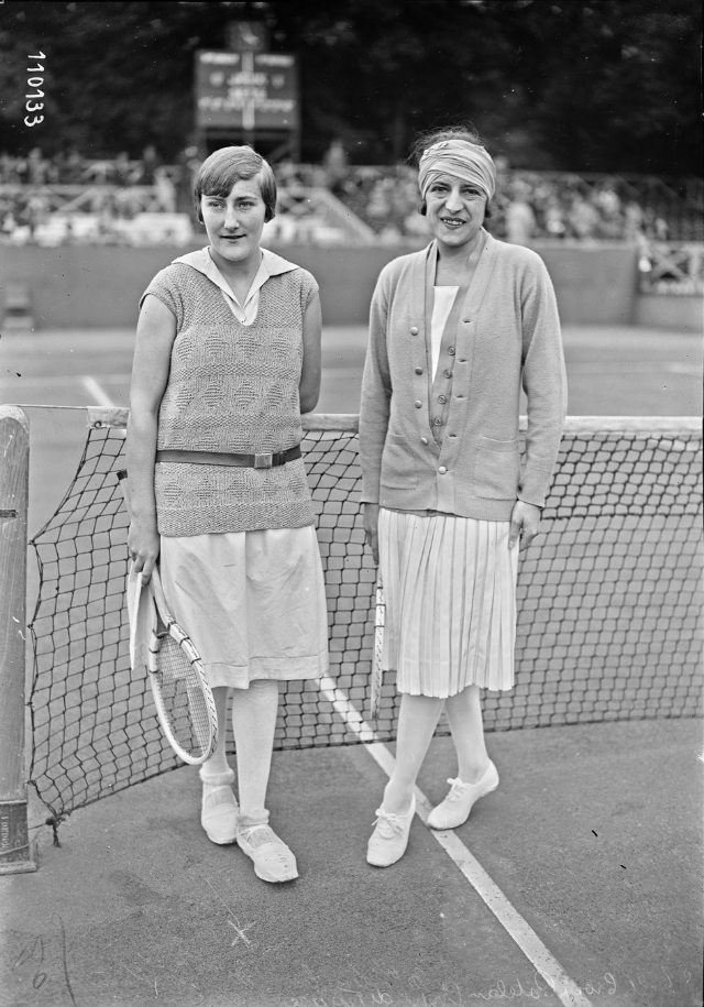 Simonne Mathieu and Suzanne Lenglen