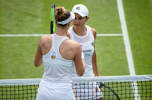 Alison Riske and Ashleigh Barty, Wimbledon 2019