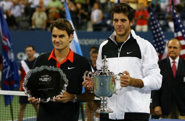 Roger Federer and Juan Martin del Potro, US Open 2009