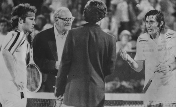 John McEnroe and Ilie Nastase, 1979 US Open