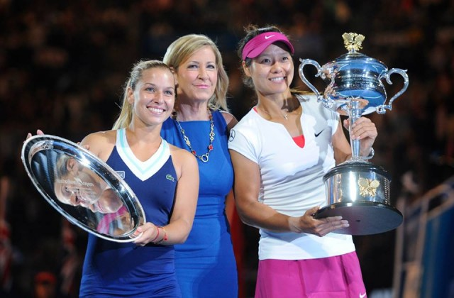 Dominika Cibulkova, Chris Evert, Li Na