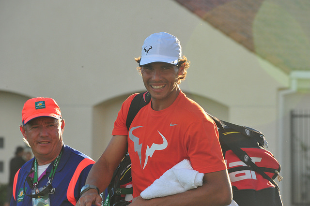 Indian Wells 2014: Rafael Nadal at practice