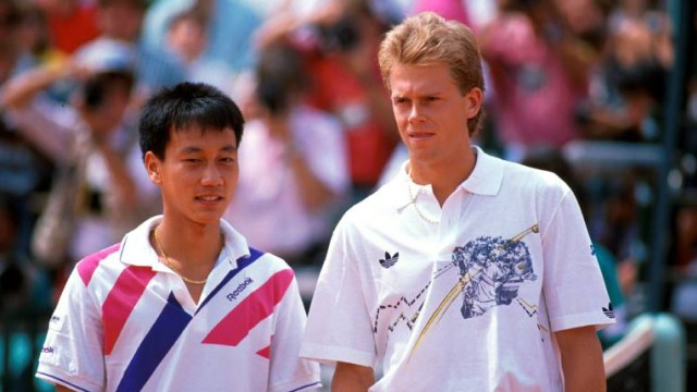 Michael Chang and Stefan Edberg, Roland Garros 1989