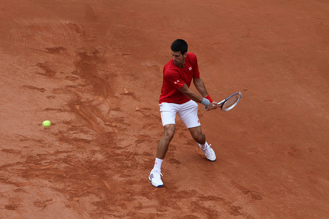Roland Garros 2014: Novak Djokovic and Marin Cilic at practice