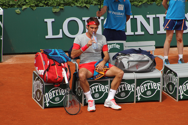 Around the grounds at Roland Garros - day one: Serena, Federer, Hingis...