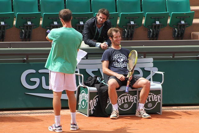 Roland Garros 2014: Richard Gasquet at practice
