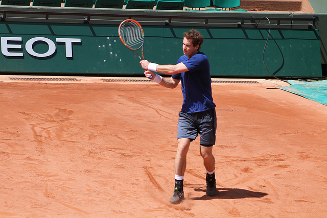 Roland Garros 2014: Andy Murray at practice