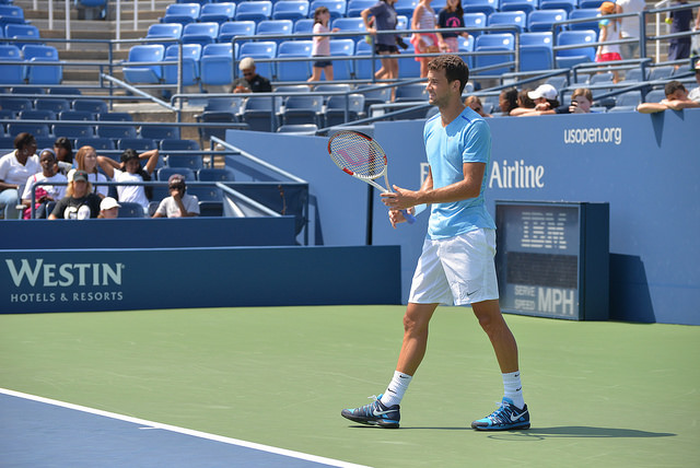 2014 US Open: Grigor Dimitrov at practice