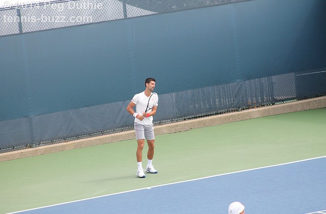 Novak Djokovic at practice, Cincinnati Open