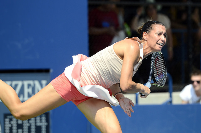 2014 US Open 1st round: Pennetta defeats Goerges
