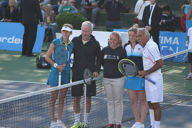 Optima Open 2014: Seles, Clijsters, McEnroe and Bahrami