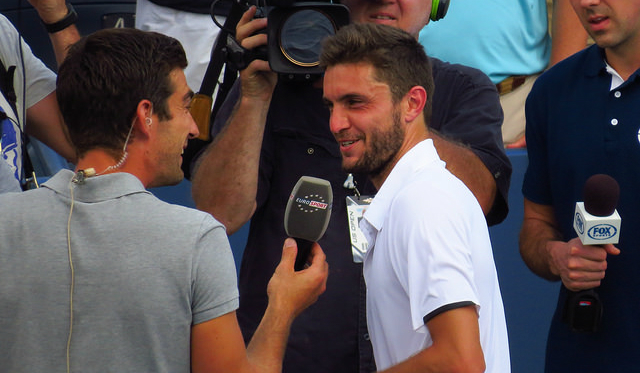 2014 US Open 3rd round: Gilles Simon defeats David Ferrer