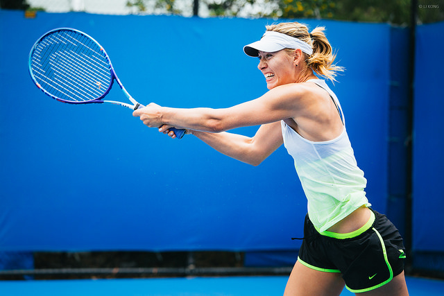 Australian Open 2015: Maria Sharapova at practice
