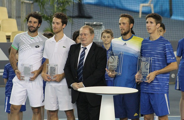 Open du Nord doubles trophy ceremony