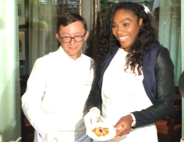 Serena Williams at Hotel Royal Monceau