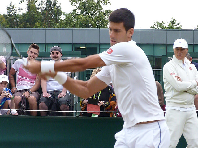 Wimbledon 2015: Novak Djokovic at practice