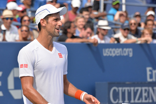 2015 US Open: Novak Djokovic at practice