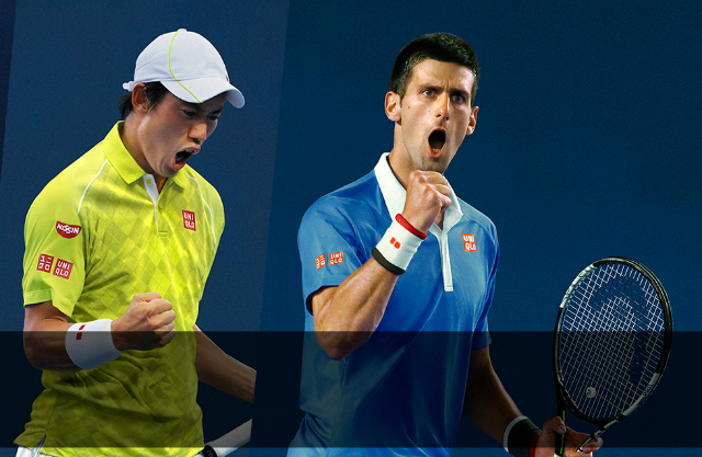 2015 US Open: Djokovic and Nishikori Uniqlo outfits