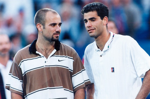 Andre Agassi and Pete Sampras, 1995 US Open