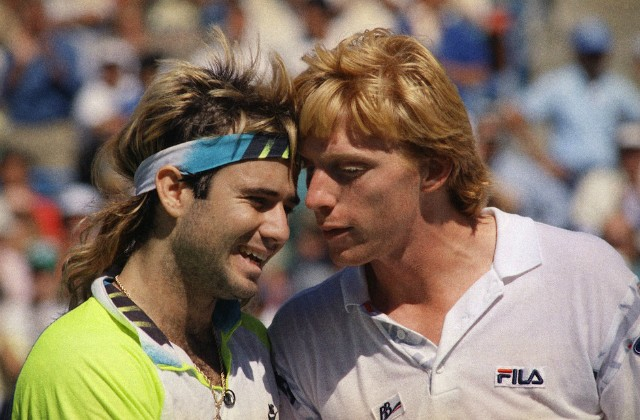 Andre Agassi and Boris Becker, 1990 US Open