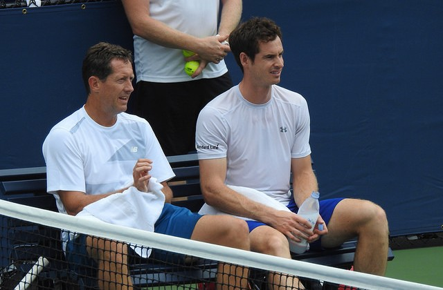 Andy Murray and Jonas Bjorkman