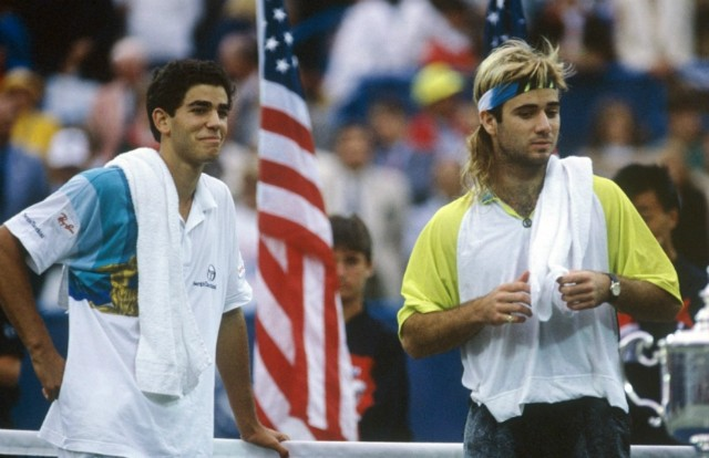 1990 US Open: pete Sampras and Andre Agassi