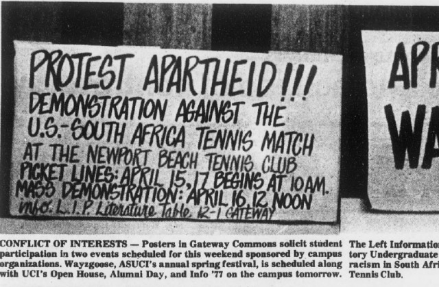 Davis Cup protests, 1977