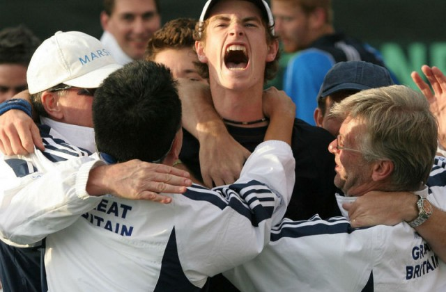 Andy Murray Davis Cup debut in 2005