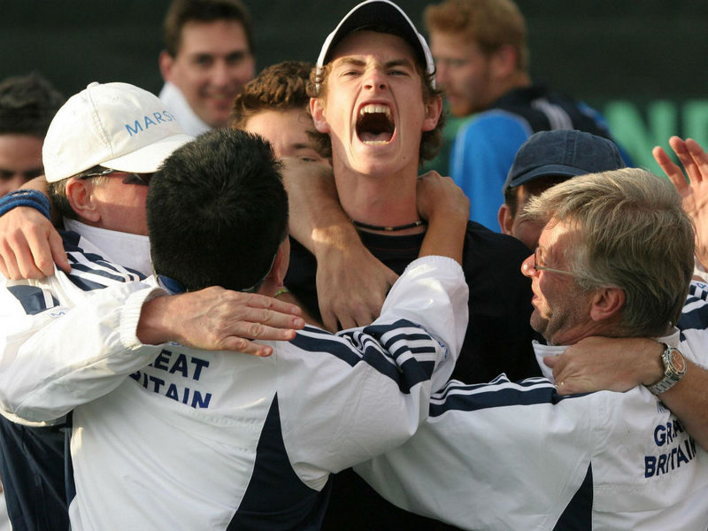 Andy Murray Davis Cup debut back in 2005