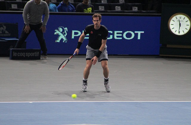 Andy Murray at the BNP Paribas Masters
