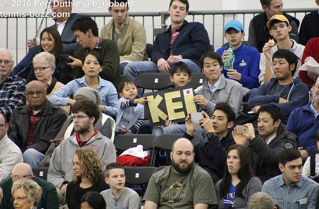 Kei Nishikori fans at the 2016 Memphis Open