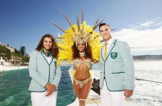 Australian Olympic team opening ceremony outfti
