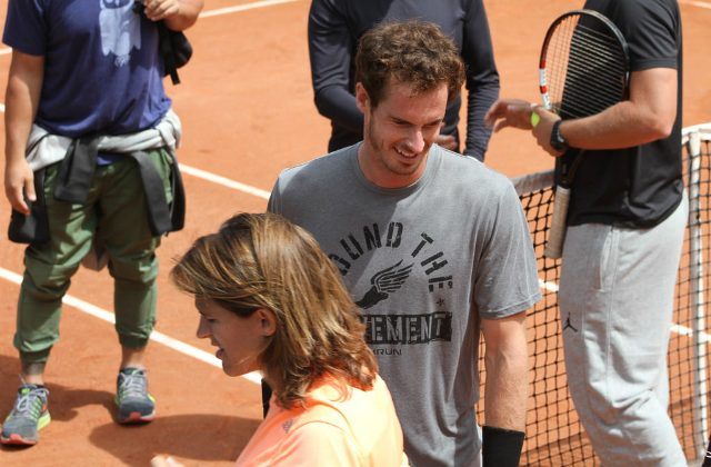 Andy Murray and Amélie Mauresmo
