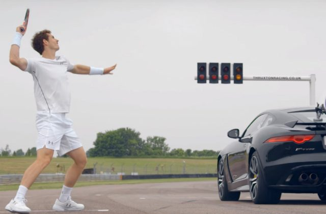 Andy Murray stars in Jaguar commercial