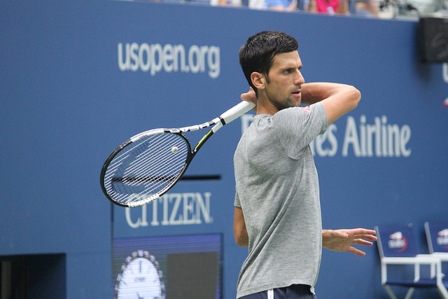 2016 US Open: Novak Djokovic at practice
