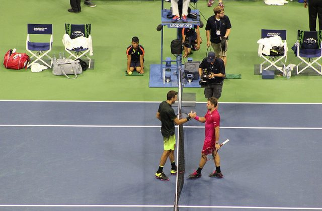 Wawrinka defeats del Potro in the 2016 US Open QF