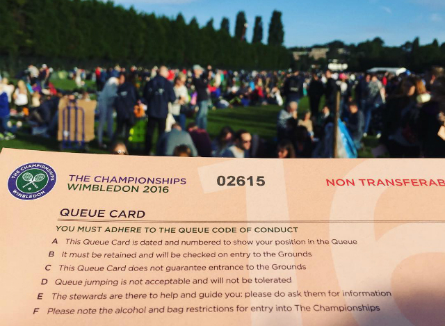 Wimbledon Queue 101