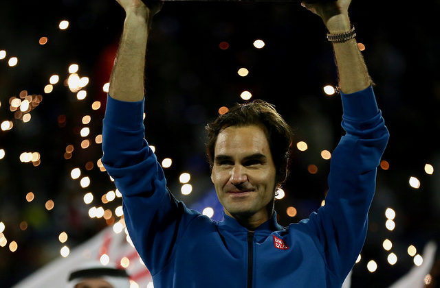 Federer wins 100th title
