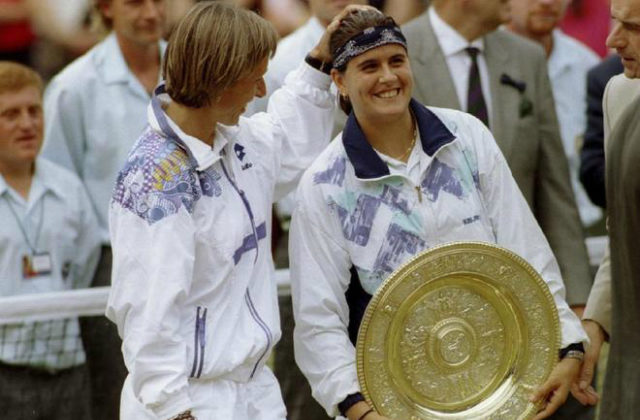 Martina Navratilova and Conchita Martinez