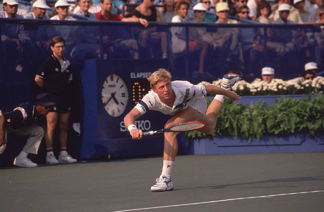 Boris Becker at the 1989 US Open
